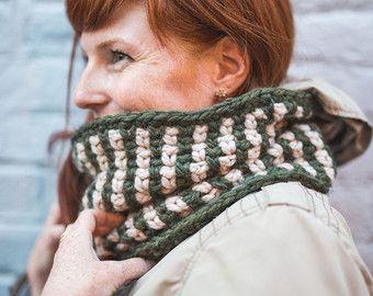 Cowl grosso spessa sciarpa cappuccio maglia regali di SWAKCouture