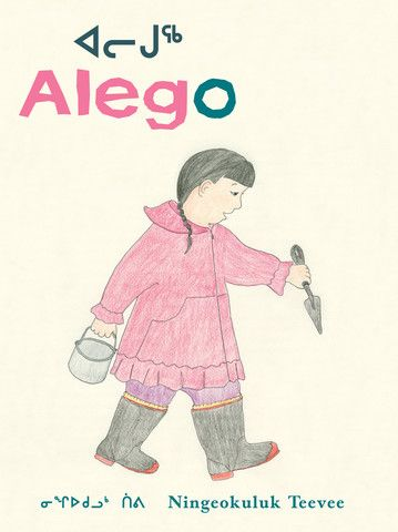 Alego- Written and illustrated by Ningeokuluk Teevee, one of the most interesting young artists in Cape Dorset, home to the great tradition of Inuit art, this is a beautifully simple story, written in Inuktitut and English, about a young Inuit girl who goes to the shore with her grandmother to collect clams for supper. Along the way she discovers tide pools brimming with life – a bright orange starfish, a creepy-crawly thing with many legs called an ugjunnaq, a hornshaped sea snail and a…