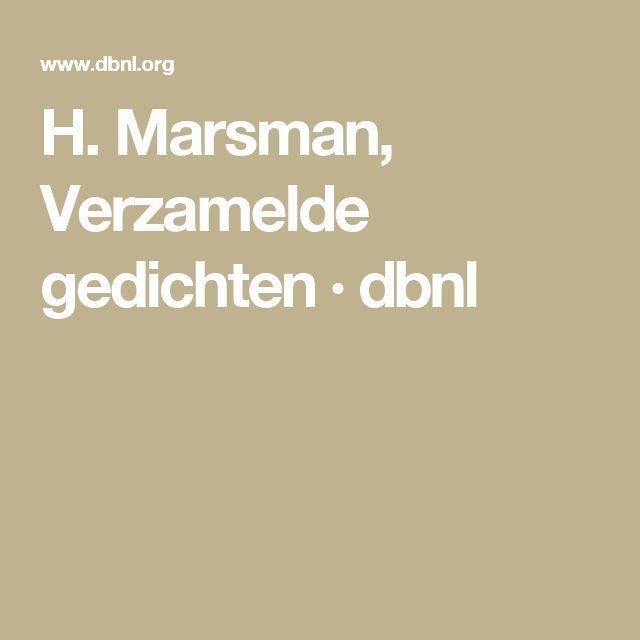 H. Marsman, Verzamelde gedichten · dbnl