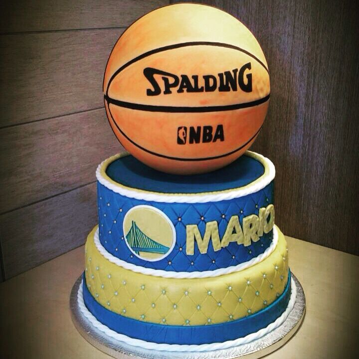 nba spalding cake design
