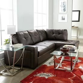 Buy 'Everett' 2-Piece Leather-Look Sectional Sleeper Online & Reviews
