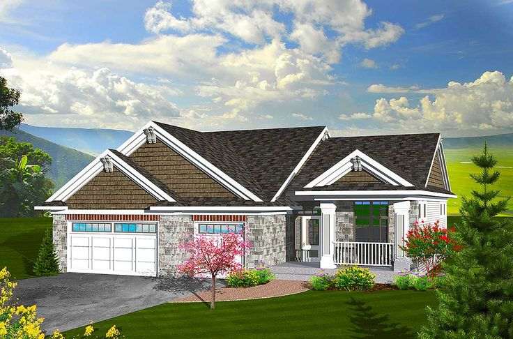 Plan 89846ah craftsman ranch home plan bedrooms home Craftsman lake house
