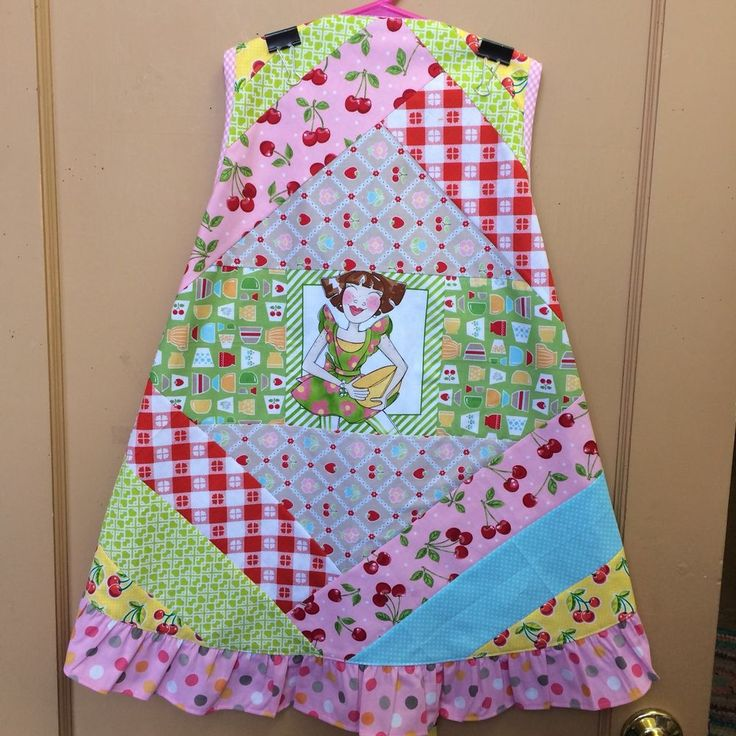 Handmade Apron Mini Quilt ( No Rhyme Or Reason) Life Is Just A Bowl Of Cherries  | eBay