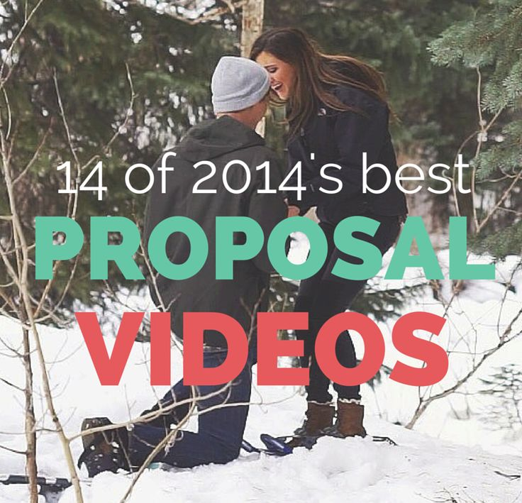 Because why not end the year on a sappy note with the best marriage proposal videos of 2014?