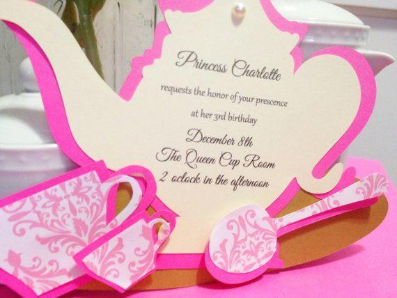 37 best images about Princess tea party – Disney Princess Tea Party Invitations