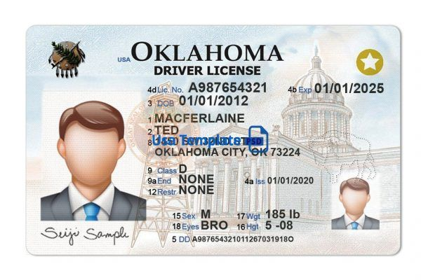 Oklahoma Driver License Template New Usatemplatepsd Id Card Template Drivers License Statement Template