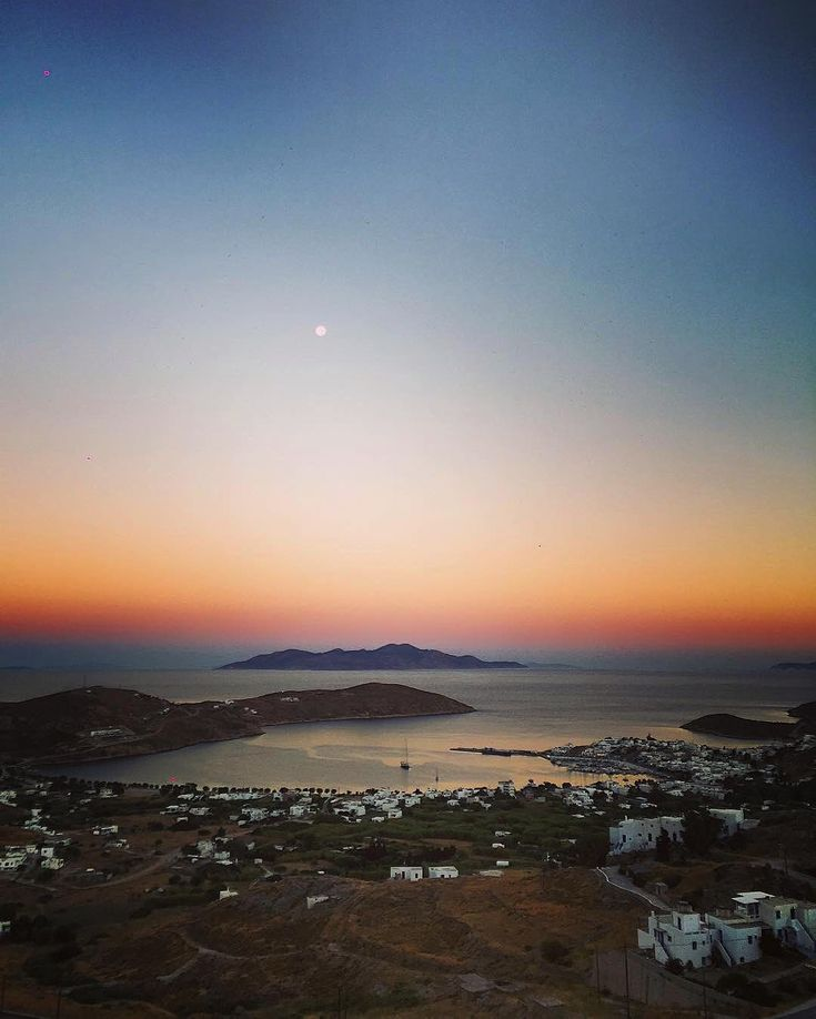 Serifos island (Σέριφος) Sunset time and the full moon is rising !! Amazing view .