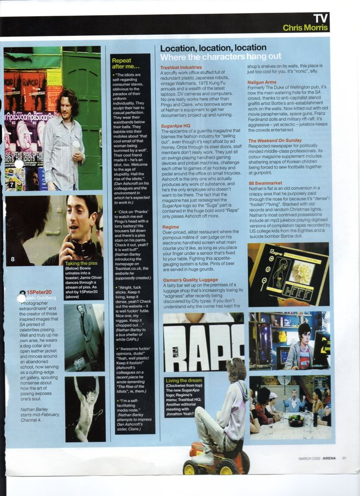 Article on Nathan Barley from Arena March 2005.