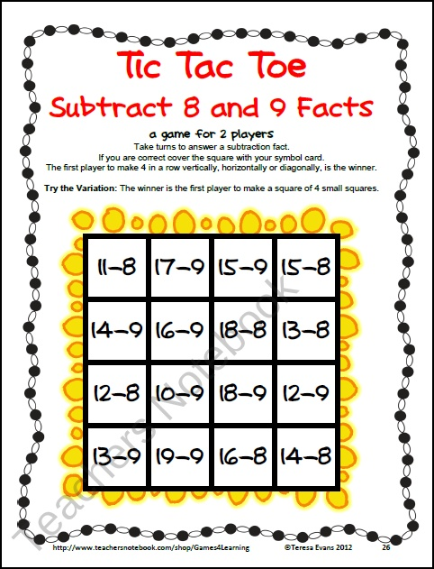 1000+ images about Subtraction on Pinterest   Math board games ...
