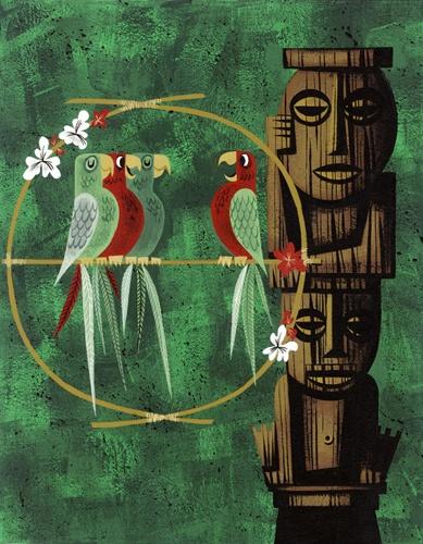 Amanda Visell's beautiful Tiki Room anniversary prints