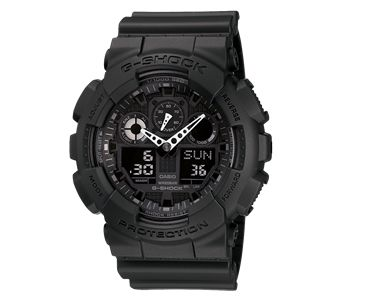 Buy Casio G-Shock Men's GA-100-1A1ER Black Chronograph Watch from our Men's Watch range at The Watch Dealer. Quality guaranteed with our 2 year The Watch Dealer Warranty on all watches.