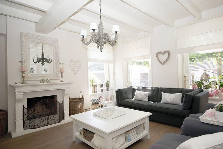 Woonkamer wanddecoratie landelijk - Interieur inrichting moderne woonkamer ...