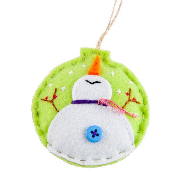 Κρεμαστό Στολίδι -Μπάλα Χιονάνθρωπος - Sunnyside