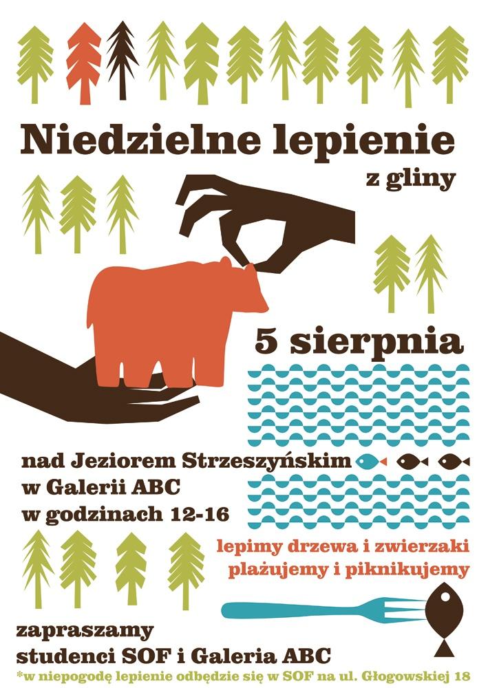 letnie niedzielne lepienie z gliny nad jeziorem w Poznaniu