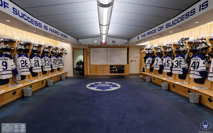 Toronto Maple leafs locker room