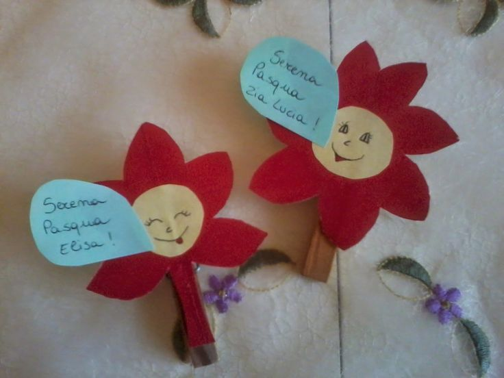 babibò: Simpatici Fiori Segnaposto per la tavola di Pasqua...