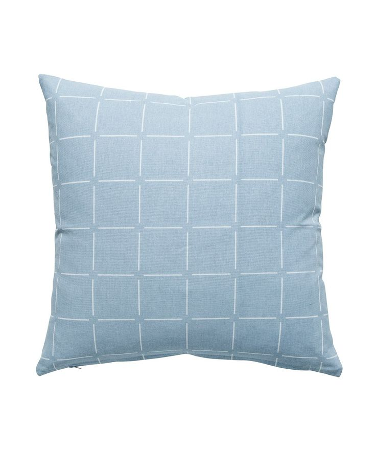Ch-Check It Out! The Broken Check Cushion Ice loves chilling with you on the couch or snuggling up in bed. Comes complete with a feather insert so all you need to do is fluff and place. | huntingforgeorge.com