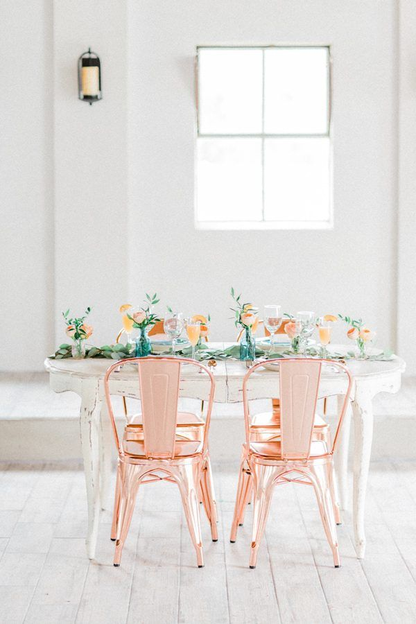 copper wedding ideas - photo by Mikaela Marie Photography http://ruffledblog.com/peach-and-copper-wedding-inspiration