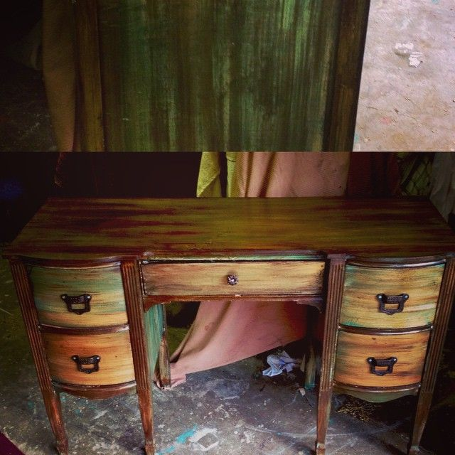 This Piece Could Be Used As Desk Vanity Etc 200.00. Furniture Restoration Rustic ...