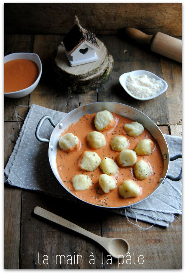 Gnocchis sauce tomate au mascarpone -