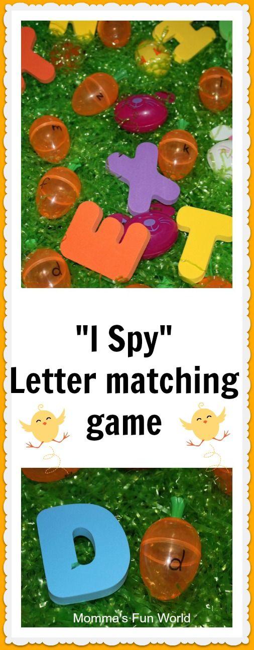 Momma's Fun World: Alphabet matching sensory bin game