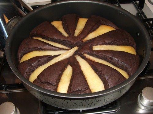 Torta sofficissima pere e cioccolato