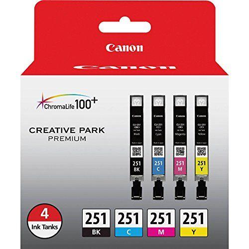 Canon CLI-251 BK/CMY 4 PK Value Pack Ink for Canon InkJet Printers Canon http://www.amazon.com/dp/B00ATZ9JZI/ref=cm_sw_r_pi_dp_LfAIvb04XYKEH