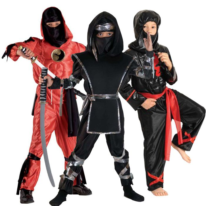 αποκριάτικες στολές για αγόρια - στολές Νίντζα και Σαμουράι