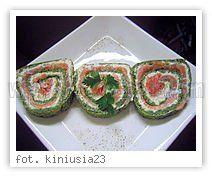 Rolada łososiowo-szpinakowa
