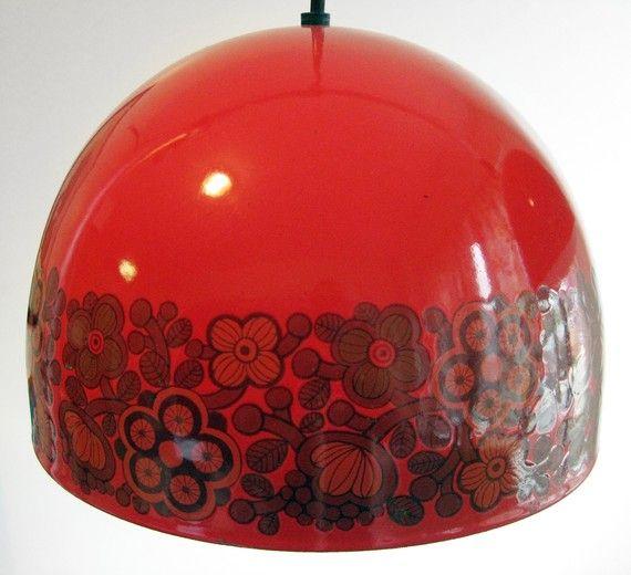 1960's Kaj Franck red enamel lamp. Sigh.