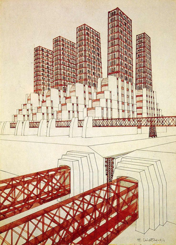 A century since futurism: Antonio Sant'Elia and Mario Chiattone