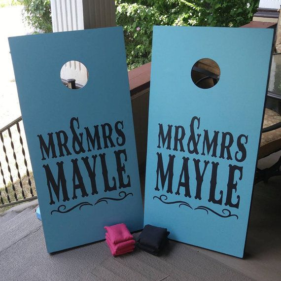 Custom Cornhole Boards for your Wedding/Event