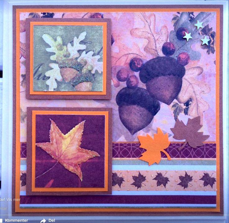 Handmade card. Autumn.