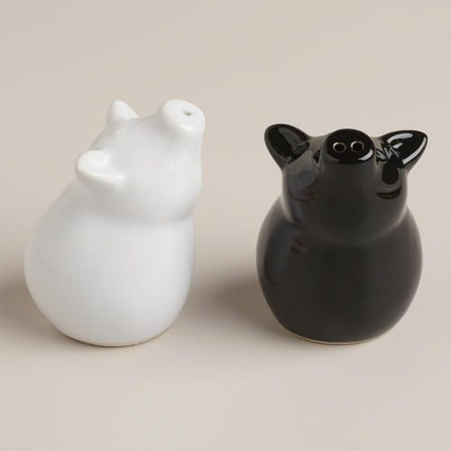 Sitting Pig Salt and Pepper Shakers, Set of 2 | World Market