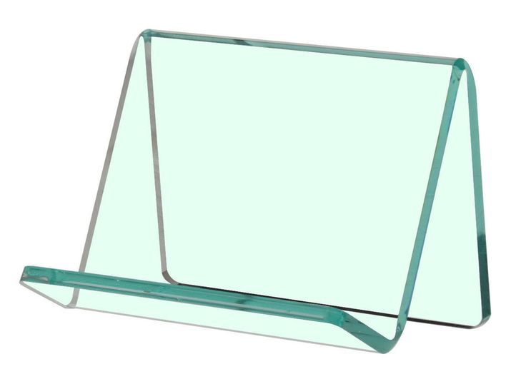 Qty 50 Lean Back Business Card Holder Gift Card Display Clear with Green Tint #UnbrandedGeneric