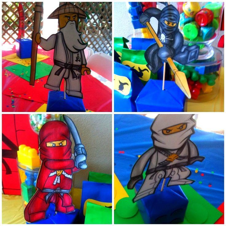 A Lego Ninjago Birthday Party: Lego Ninjago Birthday Party Hand Colored Character