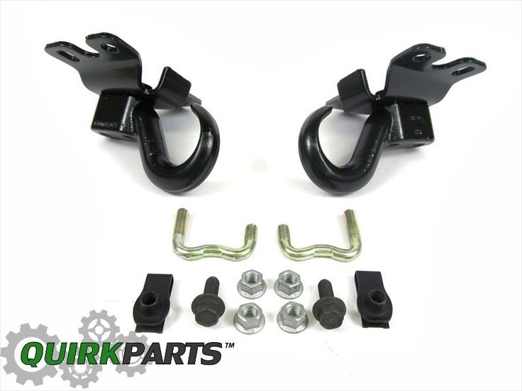 2002 2007 Jeep Liberty Front Tow Towing Hooks Kit Set