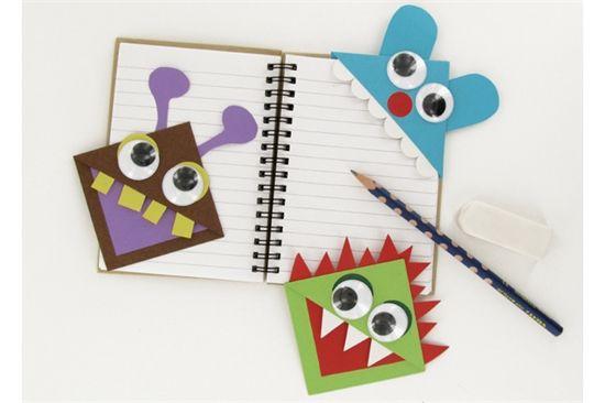 les petits monstres marque page bricolage enfant pinterest petit monstre marque page et. Black Bedroom Furniture Sets. Home Design Ideas