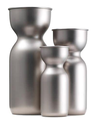 Contemporary metal vase ACQUARELLO by Federico Angi