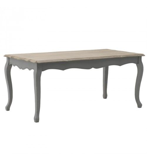 WOODEN DINING TABLE IN GREY_BEIGE COLOR 180X90X78