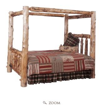 13 best images about cedar beds on pinterest log for Log canopy bed frames