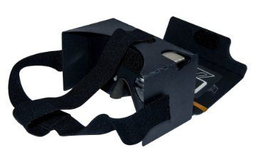 Google Cardboard Kit V2 Black by MINKANAK Big Lens 3D Virtual Reality Cardboard Glasses with Head Strap Nose Pad and NFC,Compatible with 3-6inch Screen Android and Apple Smartphone, 2016 Amazon Hot New Releases Televisions & Video  #Electronics