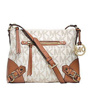 MICHAEL Michael Kors Signature Fallon Medium Messenger Bag #Dillards