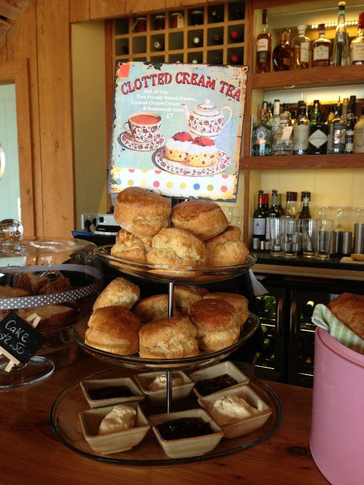 Ruin Beach Cafe cream tea - yum!