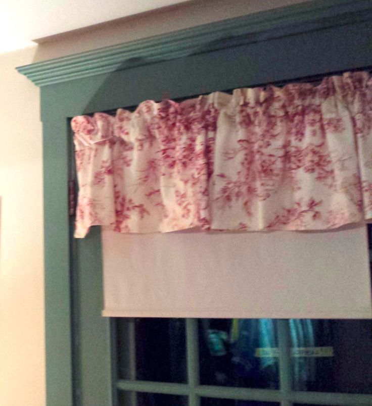 Waverly Red Toile French Country Curtain French Victorian Valance Farm Lot of 4 #Waverly #Toile #FrenchCountry