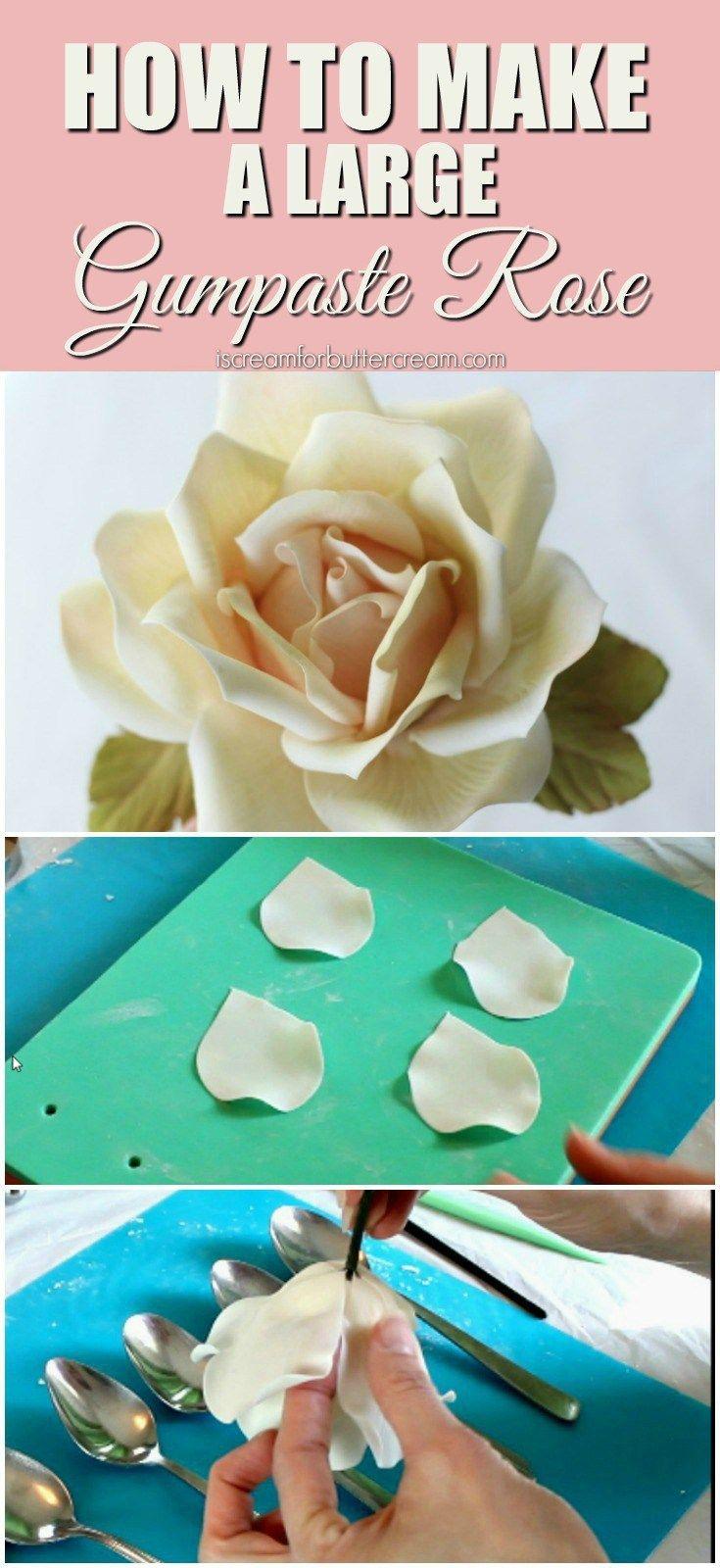 How to Make a Large Gumpaste Rose 1