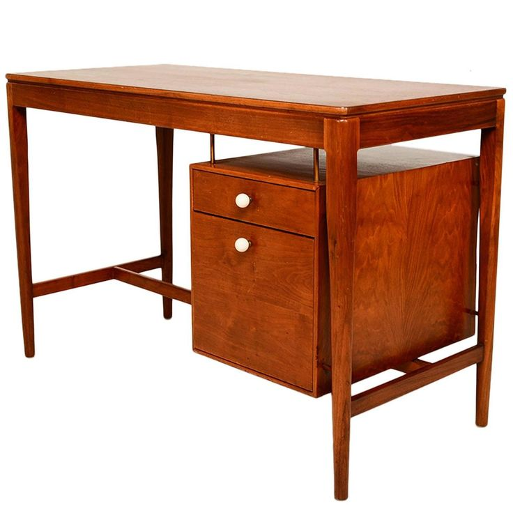 Midcentury Walnut Desk by Drexel | 1stdibs.com