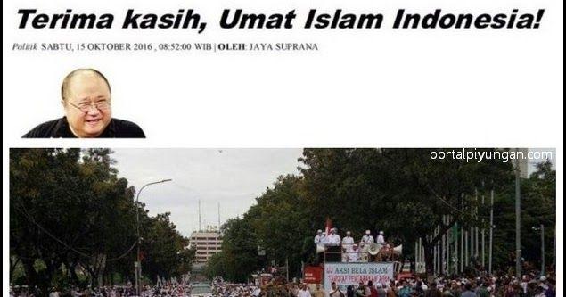 Jaya Suprana: Terima kasih, Umat Islam Indonesia!