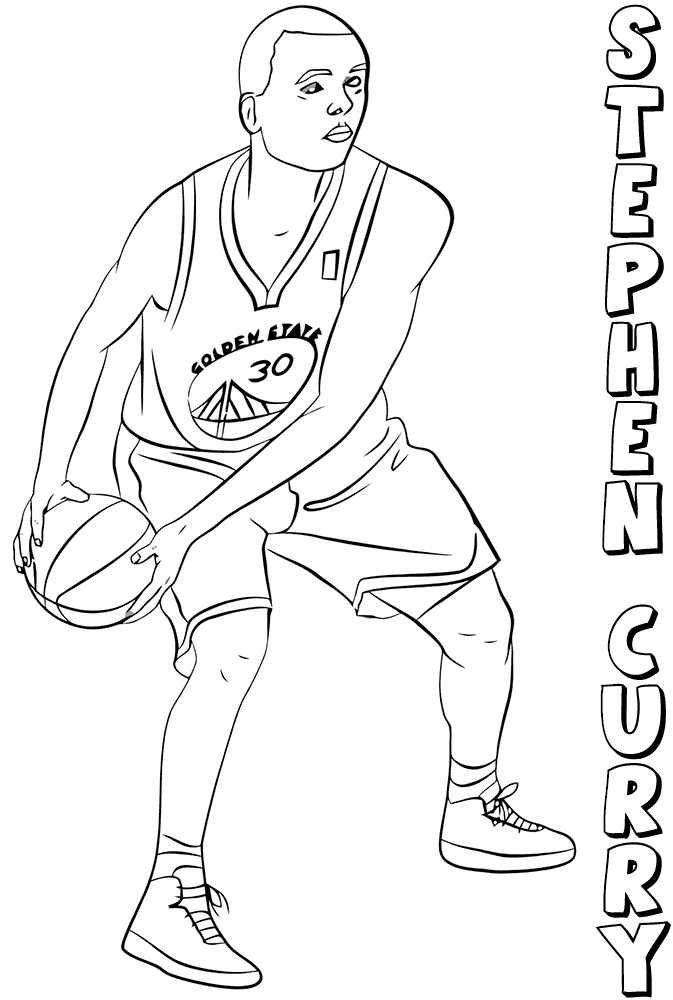 Printable Nba Coloring Pages Free In 2020 Sports Coloring Pages