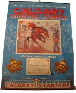 Calgary Stampede poster 1958 & 1959